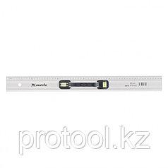 Линейка-уровень, 600 мм, металлическая, пластмассовая ручка 2 глазка// MATRIX MASTER
