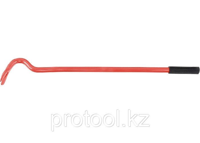 Лом-гвоздодер, 500 мм, круглый, диаметр 17 мм, резиновая ручка// Россия