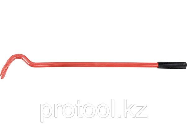 Лом-гвоздодер, 500 мм, круглый, диаметр 17 мм, резиновая ручка// Россия, фото 2
