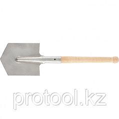 Лопата саперная из нержавеющей стали, деревянный черенок//СИБРТЕХ Россия