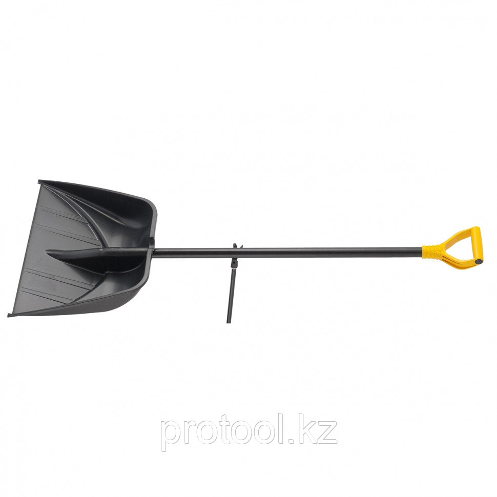 Лопата снеговая PROFI, 560 х 415 мм, длина 1390 мм, алюм. черенок// PALISAD Luxe