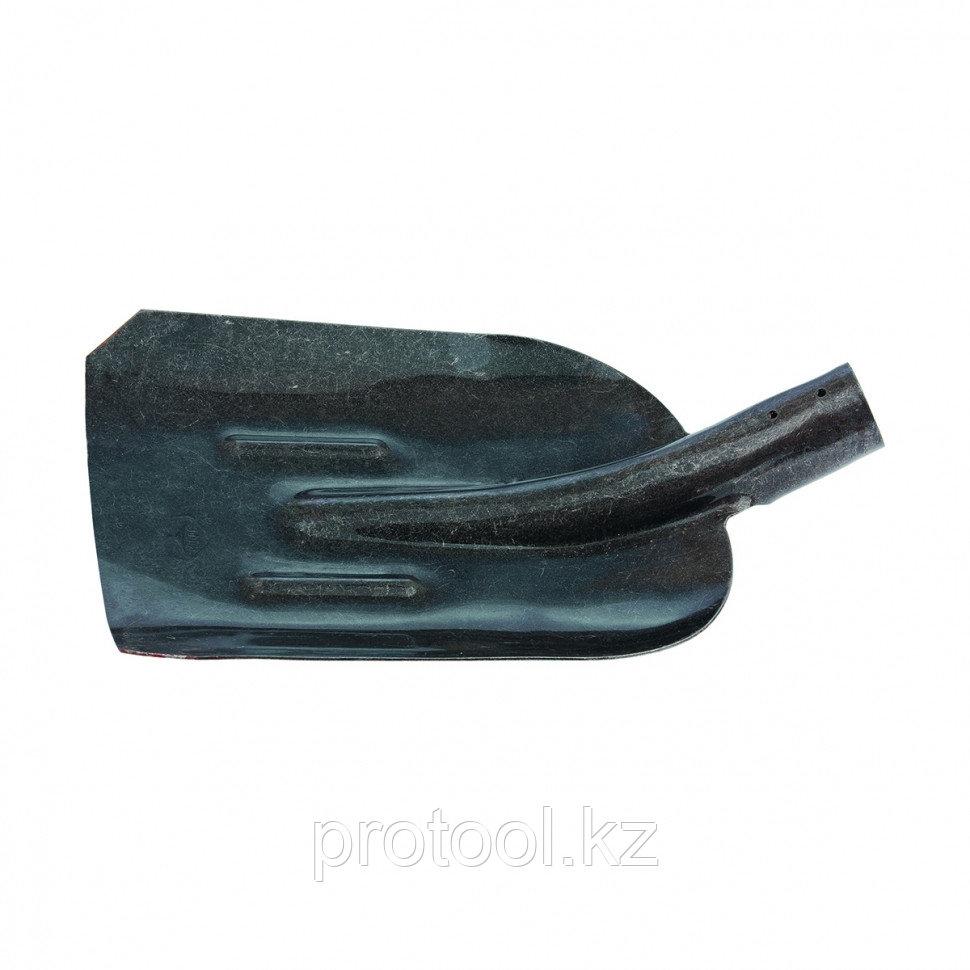 Лопата совковая, с ребром жесткости, рельсовая сталь, без черенка //СИБРТЕХ Россия