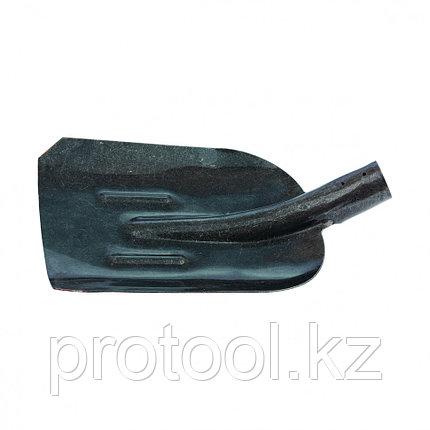 Лопата совковая, с ребром жесткости, рельсовая сталь, без черенка //СИБРТЕХ Россия, фото 2