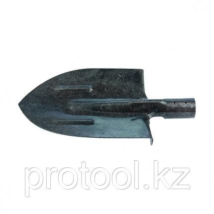 Лопата штыковая, с ребрами жесткости,рельсовая сталь, без черенка //СИБРТЕХ Россия, фото 2