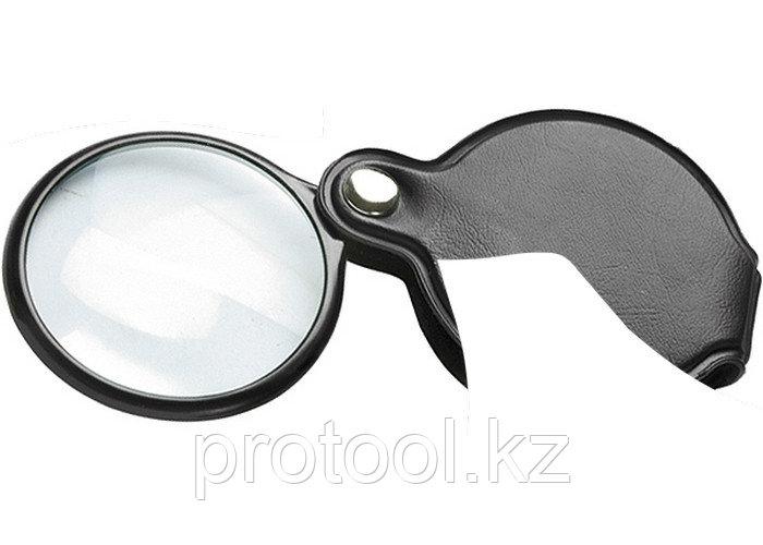 Лупа 2,5-кратная, D 50 мм, складная карманная// SPARTA