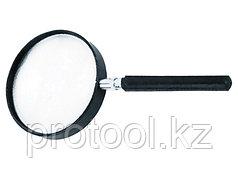 Лупа 3-кратная, D 75 мм, с рукояткой// SPARTA