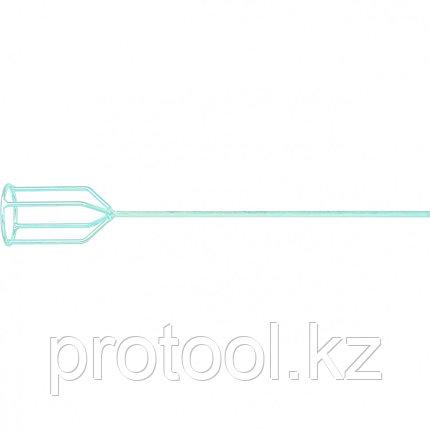Миксер для гипсовых смесей, 100 х 590 мм, оцинкованный, шестигранный хвостовик 8 мм//MATRIX, фото 2