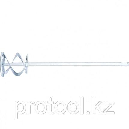 Миксер для красок и штукатурных смесей, 80 х 400 мм, оцинкованный, хвостовик SDS Plus//MATRIX, фото 2
