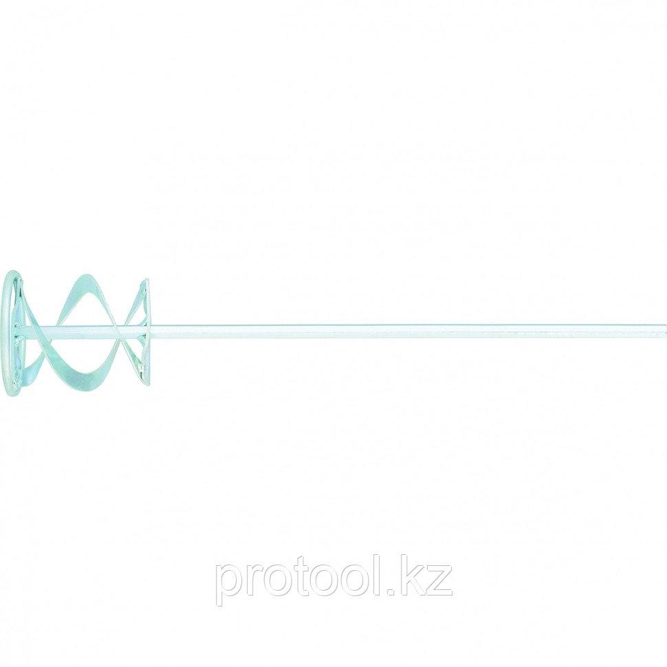 Миксер для красок и штукатурных смесей,120 х 600 мм,оцинкованный,шестигранный хвостовик 10мм//MATRIX