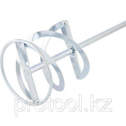 Миксер для красок и штукатурных смесей,120 х 600 мм,оцинкованный,шестигранный хвостовик 10мм//MATRIX, фото 2