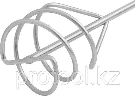 Миксер для песчано-гравийных смесей, 80 х 400 мм, оцинкованный, хвостовик SDS Plus// MATRIX, фото 2