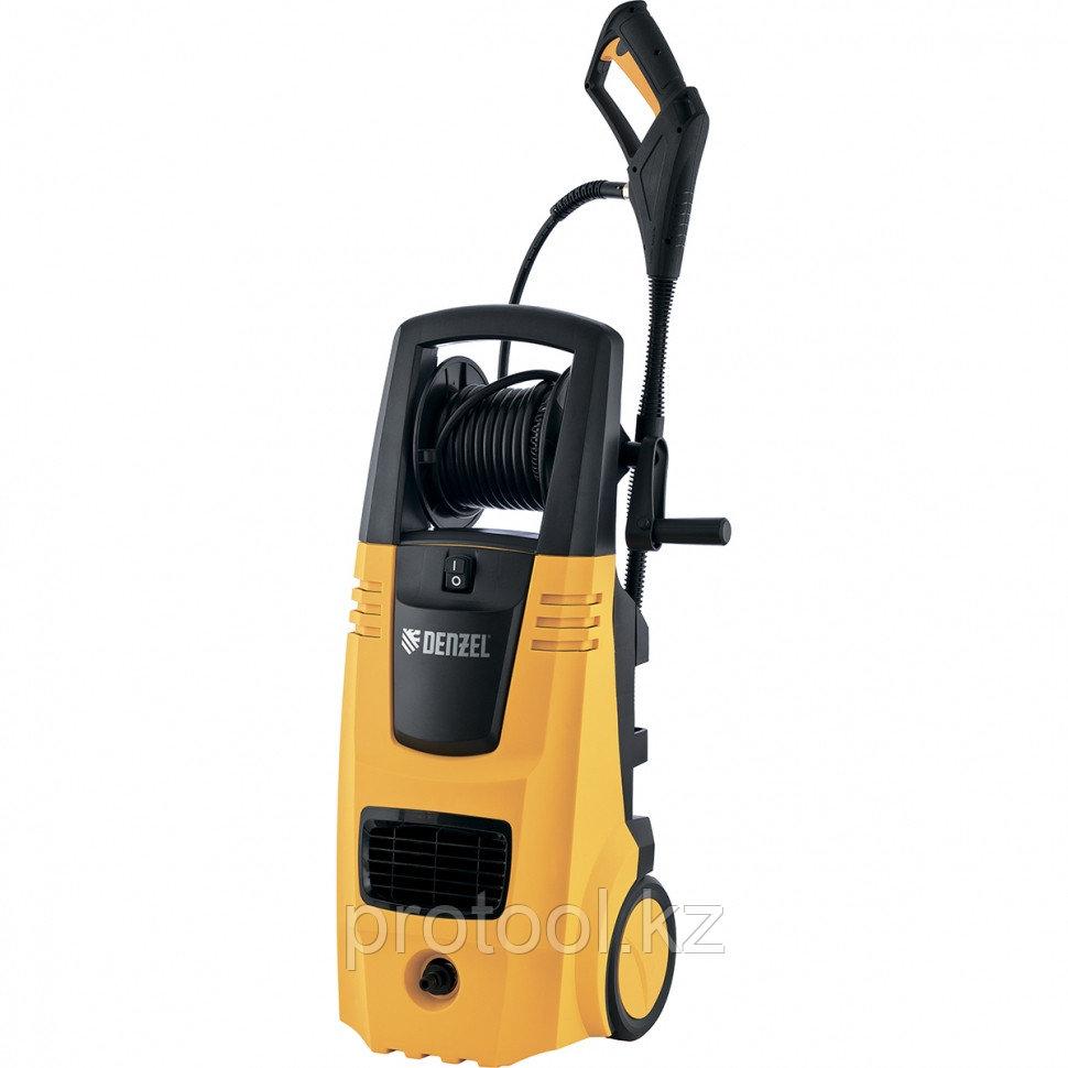 Моечная машина высокого давления HPС-2600, 2600 Вт, 190 бар, 6,5 л/мин, колесная// DENZEL