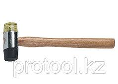 Молоток рихтовочный, бойки 35 мм, комбинированная головка, деревянная ручка// SPARTA