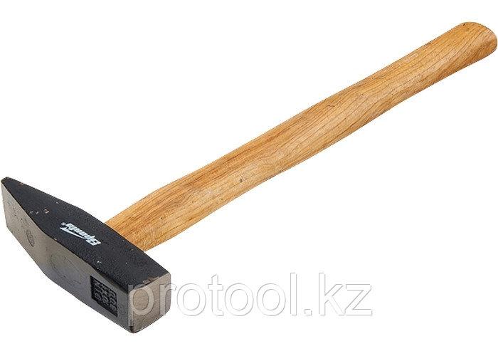 Молоток слесарный, 1000 г, квадратный боек, деревянная рукоятка// SPARTA