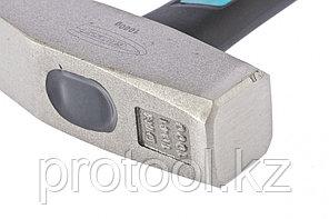 Молоток слесарный, 1000 г, квадратный боек, фибергласовая обрезиненная рукоятка// GROSS, фото 2