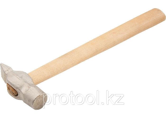 Молоток слесарный, 200 г, круглый боек, деревянная рукоятка// Россия