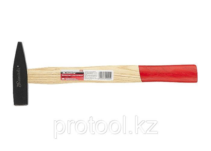 Молоток слесарный, 300 г, квадратный боек, деревянная рукоятка// MATRIX