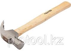 Молоток-гвоздодер, 450 г, боек 27 мм, деревянная рукоятка// SPARTA