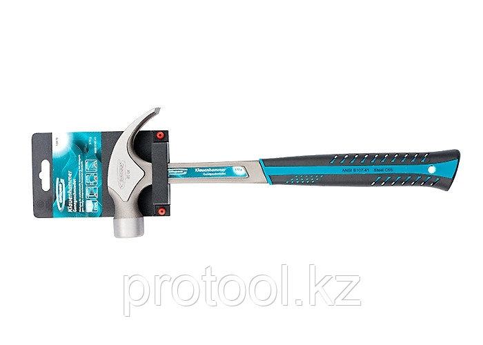 Молоток-гвоздодер, 570 г, цельнокованый, трехкомпонентная рукоятка// GROSS