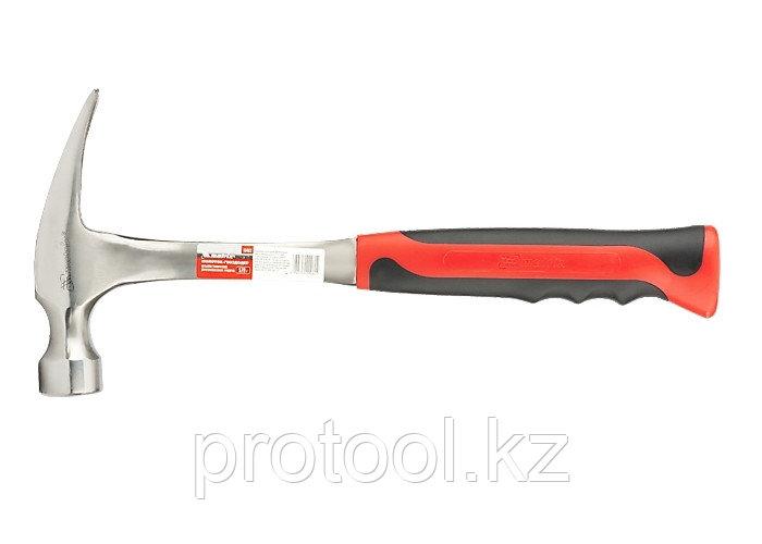 Молоток-гвоздодер, 570 г, цельнометаллический, двухкомпонентная рукоятка// MATRIX