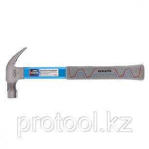 Молоток-гвоздодер,370г,,боек с магнитом,фибергласовая обрезиненная рукоятка,алюминиевая защита//БАРС, фото 2