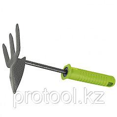 Мотыжка комбинир. 3-зубая, защитное покрытие, пластиковая рукоятка// PALISAD