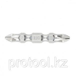 Набор бит двухстор., Ph2-Pz2х45мм, сталь S2, 10шт //GROSS, фото 2