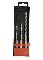 Набор буров по бетону, 5х110, 6х110, 8х160 мм, 3 шт., в пласт. коробке, SDS PLUS// MATRIX