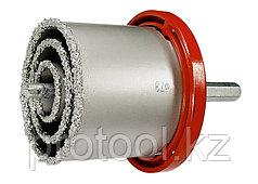 Набор коронок по керамич. плитке, 33-53-67-73-83 мм + напил., в пласт.боксе, 6-гран.хвост.// MATRIX
