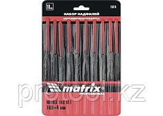 Набор надфилей, 160 х 4мм, 10 шт., обрезиненные рукоятки // MATRIX