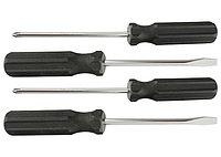 Набор отверток 4шт(SL5x100,6x100, PH1x100,2x100), углеродистая сталь, пластиковая  рукоятка //SPARTA