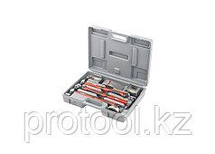 Набор рихтовочный, 3 молотка с фибергласовыми ручками, 4 наковальни, в пласт. боксе// MATRIX