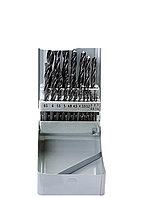 Набор сверл по металлу, 1-10 мм (через 0,5 мм+3,2и4,8 мм), HSS, 21шт, мет.бокс, цилин.хв.// SPARTA