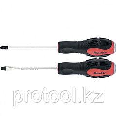 Набор ударных отверток 2шт. PH2x100, SL6x100 CrV// Matrix