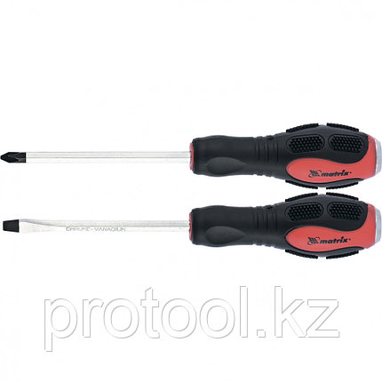 Набор ударных отверток 2шт. PH2x100, SL6x100 CrV// Matrix, фото 2