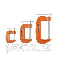 Набор: струбцины G-образные, 3 шт., 25-50-75 мм// SPARTA