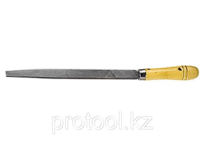 Напильник, 250 мм, плоский, деревянная ручка// СИБРТЕХ