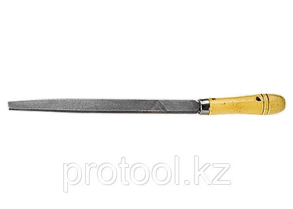 Напильник, 250 мм, плоский, деревянная ручка// СИБРТЕХ, фото 2