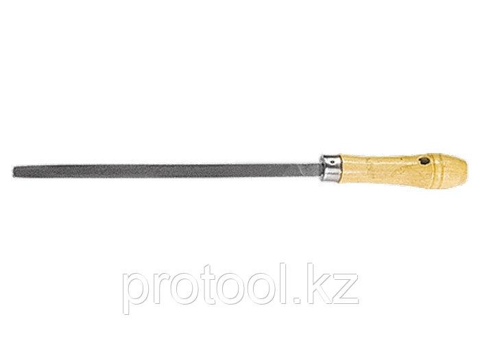 Напильник, 250 мм, трехгранный, деревянная ручка// СИБРТЕХ