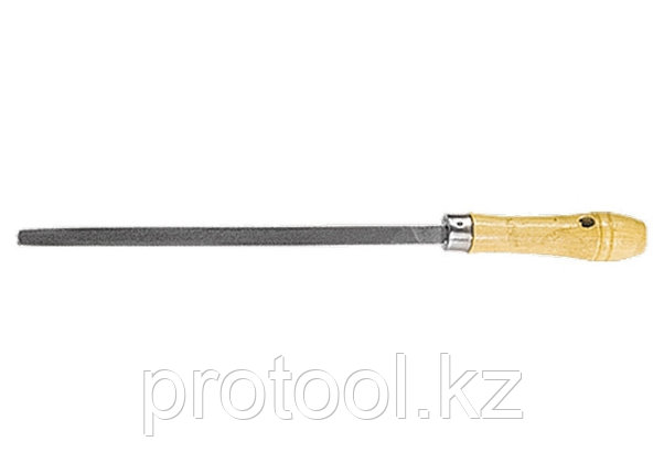 Напильник, 250 мм, трехгранный, деревянная ручка// СИБРТЕХ, фото 2