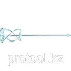Насадка для миксера, для тяжелых растворов,160 х 590 мм, оцинкованный, хвостовик резьба М14//MATRIX