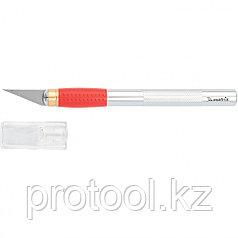Нож для дизайнерских работ, двухкомпонентная рукоятка + 5 запасных лезвий//MATRIX
