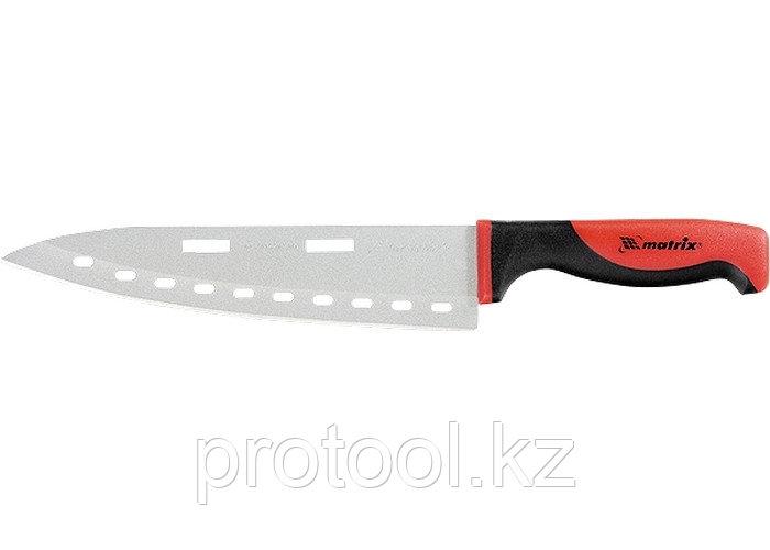 """Нож поварской """"SILVER TEFLON"""" large, 200 мм, тефлон. покрытие полотна, двухк. рук.// MATRIX KITCHEN"""