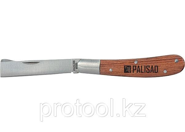 Нож садовый, 173 мм, складной, копулировочный, деревянная рукоятка// PALISAD, фото 2