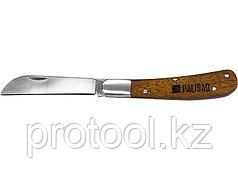 Нож садовый, 173 мм, складной, прямое лезвие, деревянная рукоятка// PALISAD