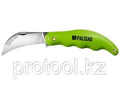 Нож садовый, 175 мм, складной, изогнутое лезвие, пластиковая эргономичная рукоятка// PALISAD