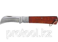 Нож складной, 200 мм, загнутое лезвие, деревянная ручка// SPARTA