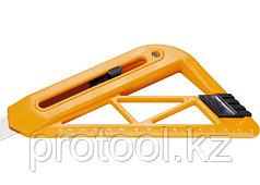 Нож, 18 мм, выдвижное лезвие, для резки обоев, линейка// SPARTA