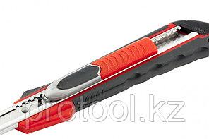 """Нож, 9 мм выдвиж. лезвие """"QUIK BLADE"""" мет. направл., двойная фикс., эргоном. двухком.рук.//MATRIX, фото 2"""