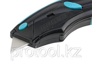 Нож,ремонтно-монтажный.трехкомп.рук-ка,авто выброс/возврат лезвия пистол типа,170мм+5 з.л// GROSS, фото 2